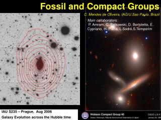 Fossil and Compact Groups  C. Mendes de Oliveira, IAG/U.Sao Paulo, Brazil