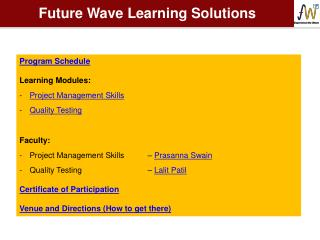 Future Wave Learning Solutions