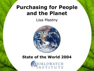 Purchasing for People and the Planet