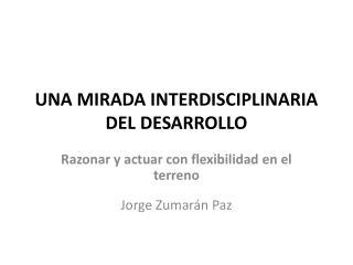 UNA MIRADA INTERDISCIPLINARIA DEL DESARROLLO
