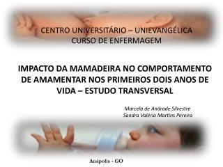 CENTRO UNIVERSITÁRIO – UNIEVANGÉLICA CURSO DE ENFERMAGEM