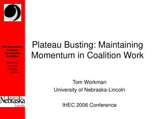 Plateau Busting: Maintaining Momentum in Coalition Work