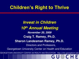 Children's Right to Thrive