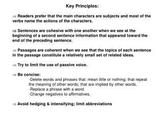 Key Principles: