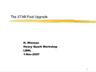 The STAR Pixel Upgrade