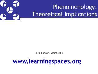 Phenomenology:  Theoretical Implications