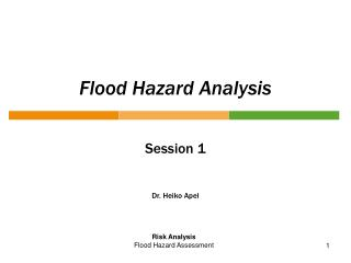 Flood Hazard Analysis