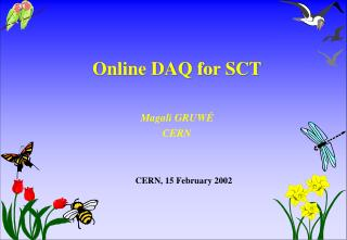 Online DAQ for SCT