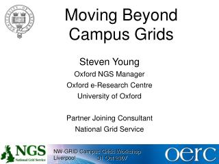 Moving Beyond Campus Grids