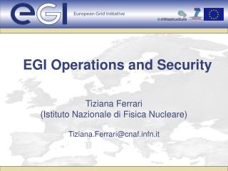 EGI Operations and Security