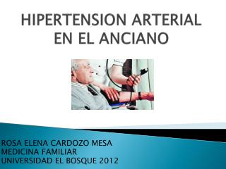 HIPERTENSION ARTERIAL EN EL ANCIANO