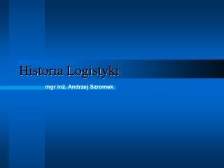 Historia Logistyki