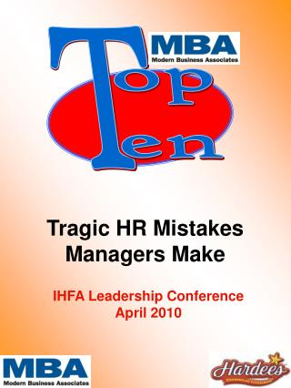 Tragic HR Mistakes Managers Make