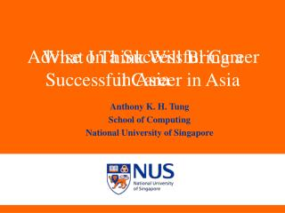 Advise on a Successful Career in Asia
