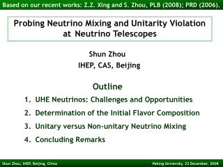 Probing Neutrino Mixing and Unitarity Violation at Neutrino Telescopes