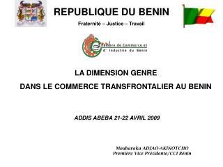 LA DIMENSION GENRE  DANS LE COMMERCE TRANSFRONTALIER AU BENIN
