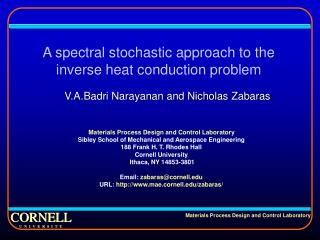 A spectral stochastic approach to the inverse heat conduction problem