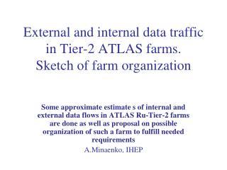 External and internal data traffic in Tier-2 ATLAS farms. Sketch of farm organization