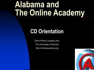 Alabama and The Online Academy
