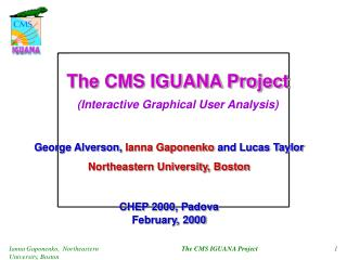 The CMS IGUANA Project