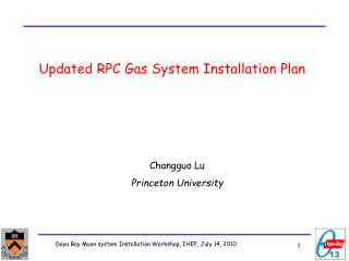 Updated RPC  Gas System Installation Plan