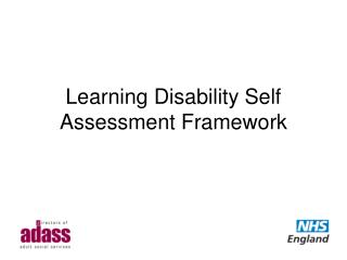 Learning Disability Self Assessment Framework