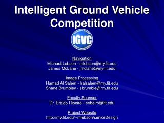 Intelligent Ground Vehicle Competition