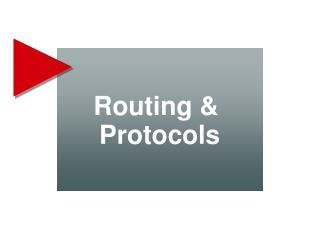 Routing &  Protocols