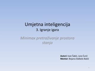 Umjetna inteligencija  3. Igranje igara