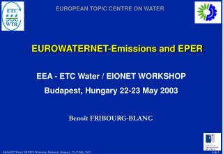 EUROWATERNET-Emissions and EPER