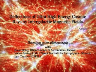 Deflections of Ultra High Energy Cosmic Rays by Intergalactic Magnetic Fields