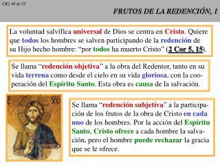 FRUTOS DE LA REDENCIÓN, 1