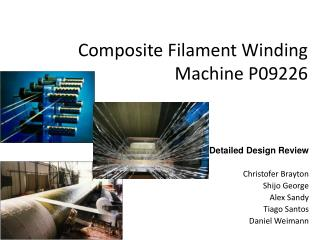 Composite Filament Winding Machine P09226