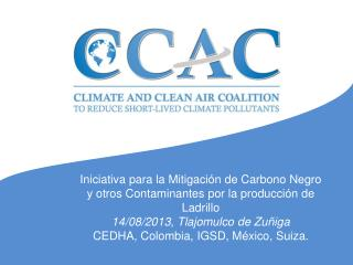 Iniciativa para la Mitigación de Carbono Negro y otros Contaminantes por la producción de Ladrillo