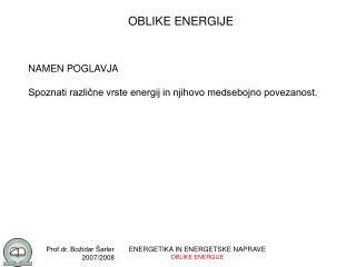 OBLIKE ENERGIJE