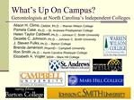 What s Up On Campus Gerontologists at North Carolina s Independent Colleges