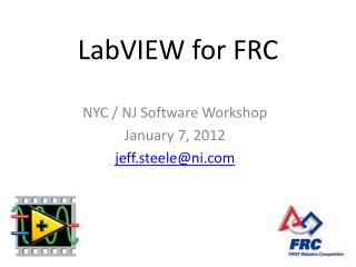 LabVIEW for FRC
