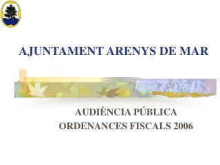 AJUNTAMENT ARENYS DE MAR
