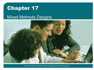 Mixed Methods Designs