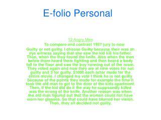 E-folio Personal