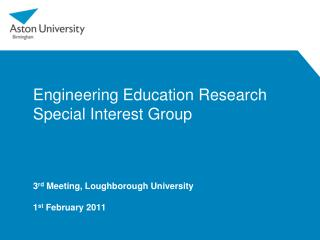 Engineering Education Research Special Interest Group