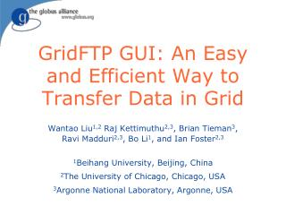 GridFTP GUI: An Easy and Efficient Way to Transfer Data in Grid
