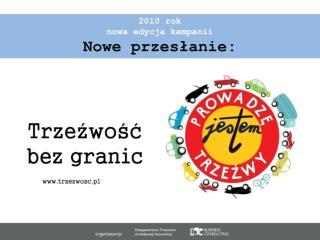 2010 rok nowa edycja kampanii Nowe przesłanie: