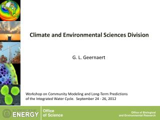 Climate and Environmental Sciences Division