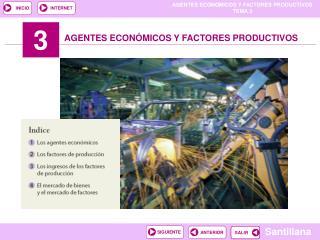 AGENTES ECONÓMICOS Y FACTORES PRODUCTIVOS