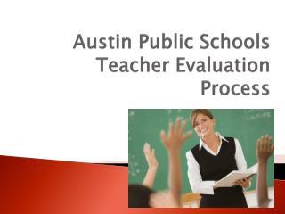 Austin Public Schools Teacher Evaluation Process