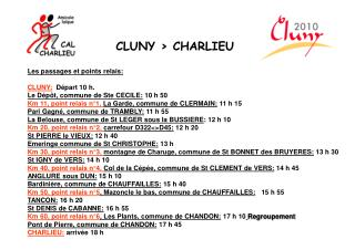 CLUNY > CHARLIEU