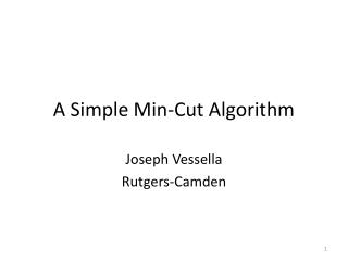 A Simple Min-Cut Algorithm