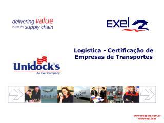 Logística -  Certificação de Empresas de Transportes