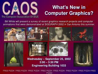 Wednesday – September 25, 2002 2:00 – 3:30 PM Engineering Building 1033